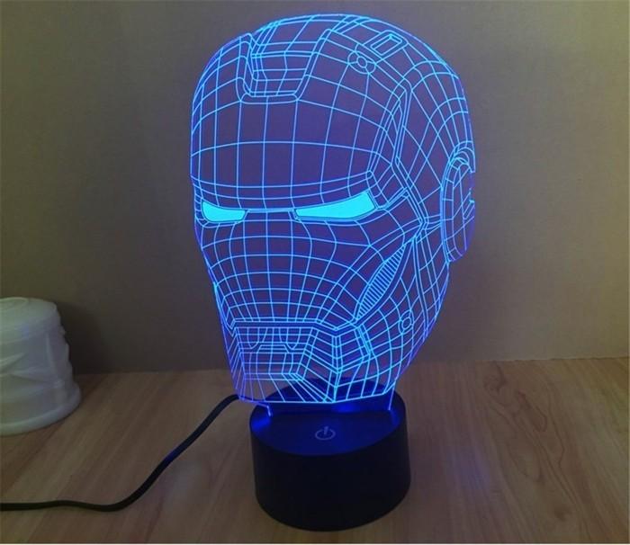 Superhelden Wohnaccessoires Deko Ideen für-echte Fans LED Lampe