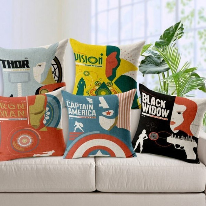 Superhelden Wohnaccessoires Deko Ideen für echte Fans Sofa Kissen