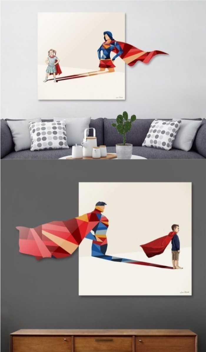 Superhelden Wohnaccessoires Deko Ideen für echte Fans Wanddeko
