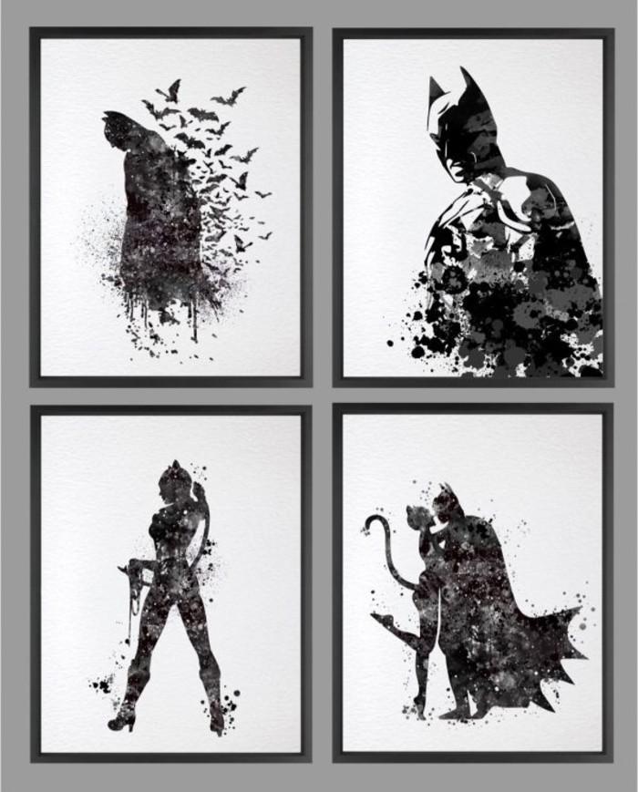 Superheros Wohnaccessoires Deko Ideen thematische Wanddeko