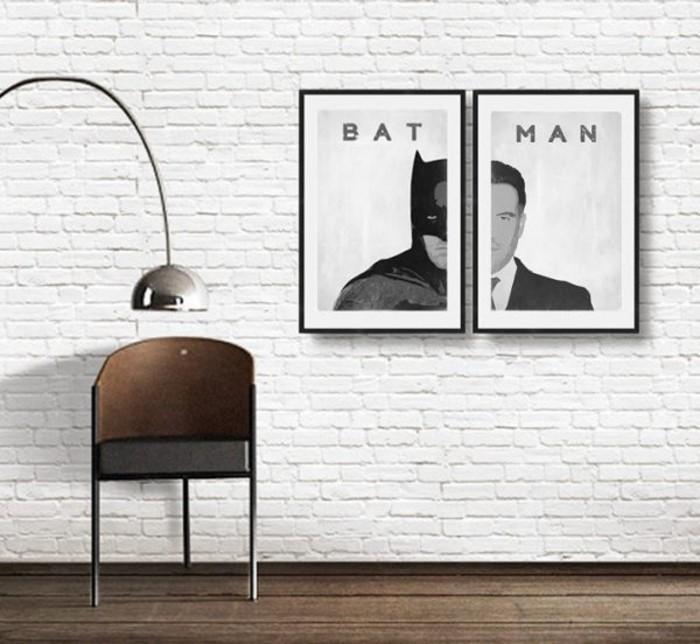 Superheros Wohnaccessoires Deko Ideen thematische Wanddekoration Batman
