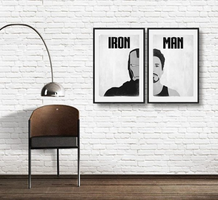 Superheros Wohnaccessoires Deko Ideen thematische Wanddekoration