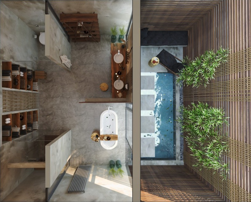 Traumbäder moderne Badmöbel Luxus Badezimmer Bilder von oben