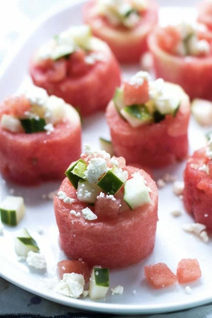 Wassermelone Diät Fingerfoods Sommerparty gesunde Ernährung