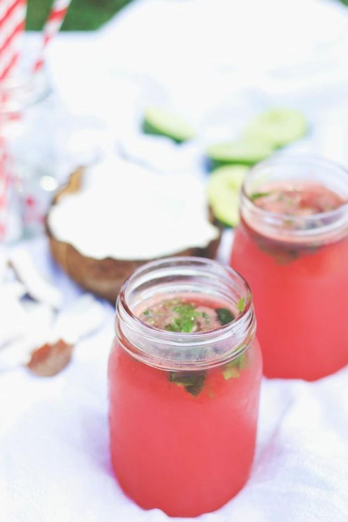 Wassermelone Diät Sommer Coctails gesunde Ernährung Wassermelone Getränk