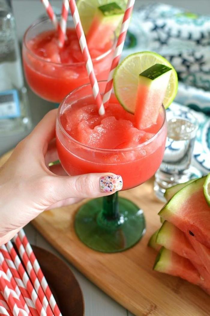 Wassermelone Diät Sommer Coctails gesunde Ernährung