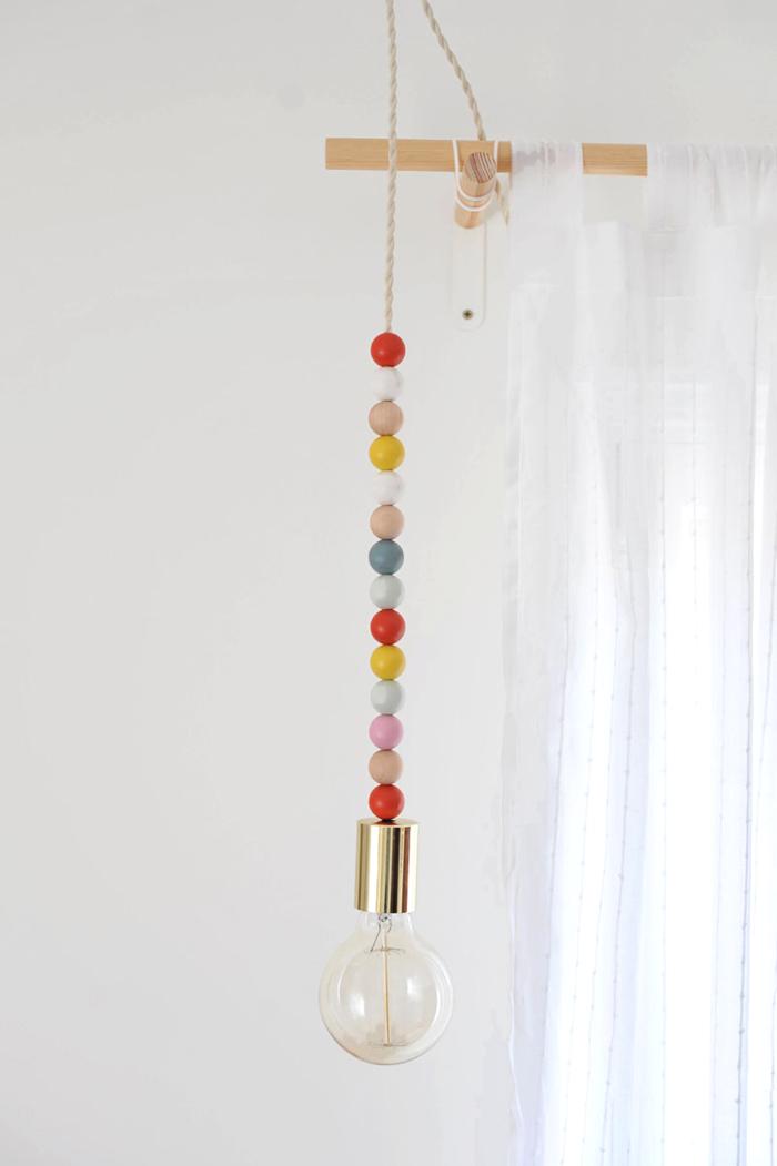 ausgefallene lampen hängelampe basteln farbig