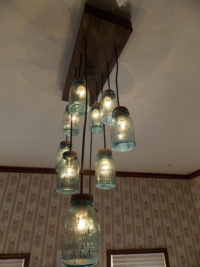ausgefallene lampen kreatives basteln einmachgläser