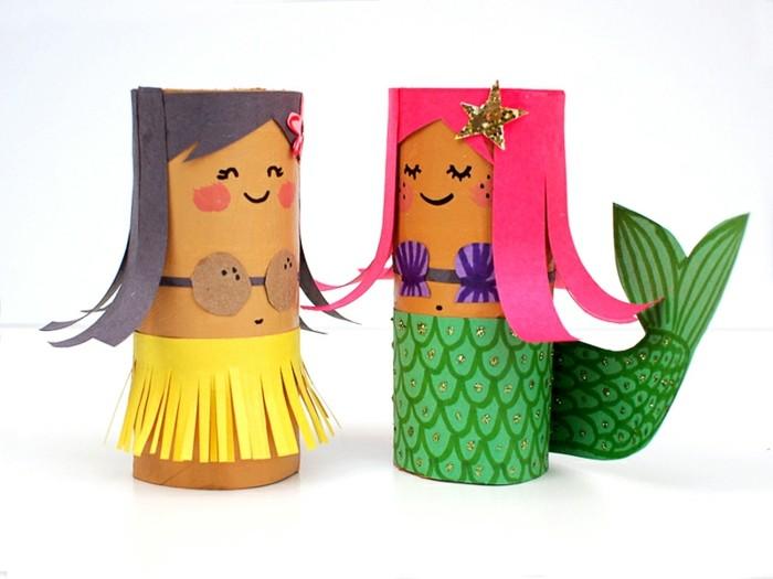 basteln mit klopapierrollen diy ideen deko ideen basteln mit kindern hawai
