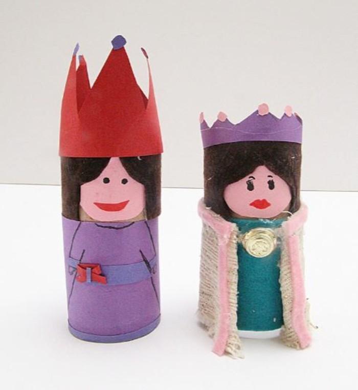 basteln mit klopapierrollen diy ideen deko ideen basteln mit kindern könig und königin