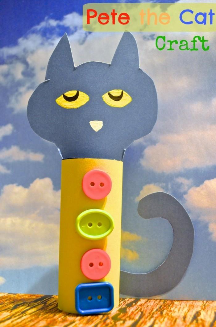 basteln mit klopapierrollen diy ideen deko ideen basteln mit kindern katze