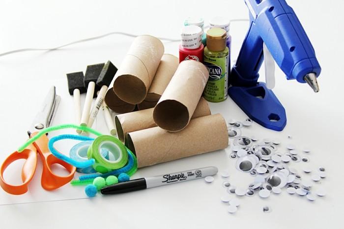 basteln mit klopapierrollen diy ideen deko ideen basteln mit kindern material