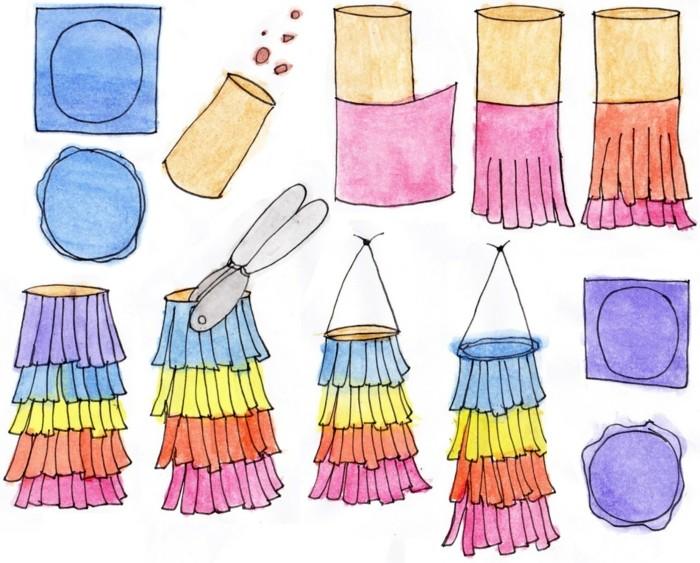 basteln mit klopapierrollen diy ideen deko ideen basteln mit kindern pinata