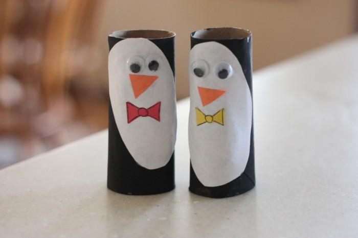 diy ideen deko ideen basteln mit kindern pinguine