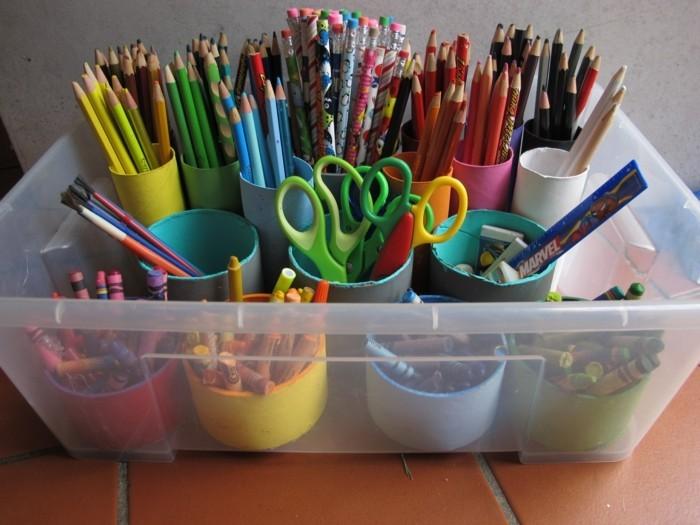 diy ideen deko ideen basteln mit kindern stiftehalter