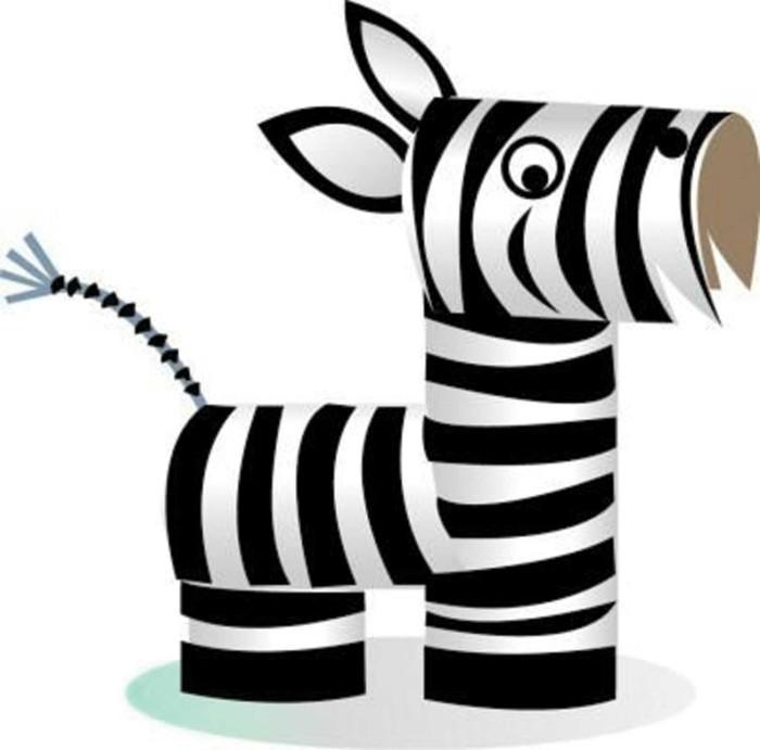 diy ideen deko ideen basteln mit kindern zebra