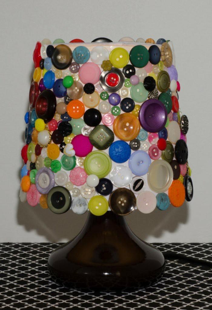 diy ideen deko ideen spiegel lampenschirm