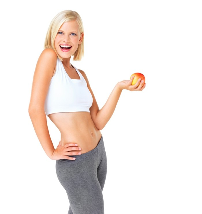bauchfett verlieren gesund leben obst essen