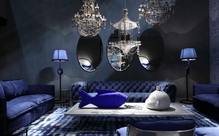 baxter sofa chester moon kobaltbla maritim kristallkronleuchter fisch tischdeko