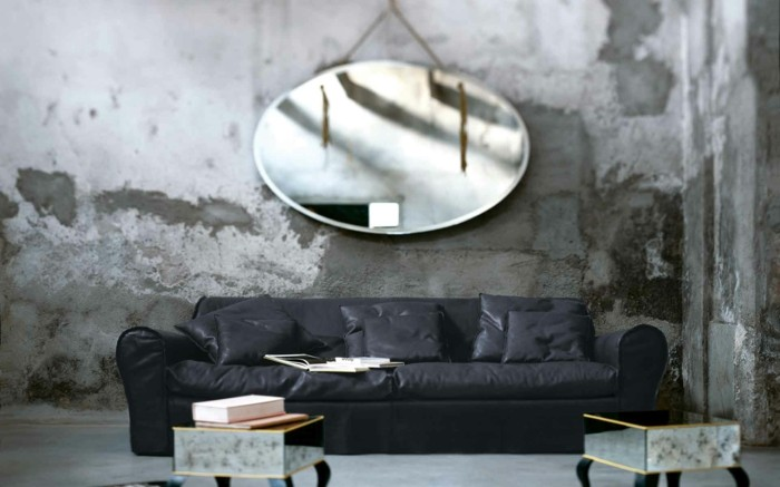 Baxter Sofa Ledercouch Italienische Möbel Beistelltische Designer Couch