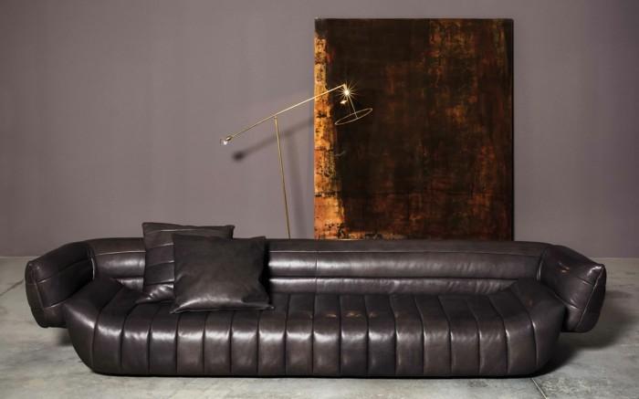 baxter sofa tactile couch leder glatt moderne stehlampe
