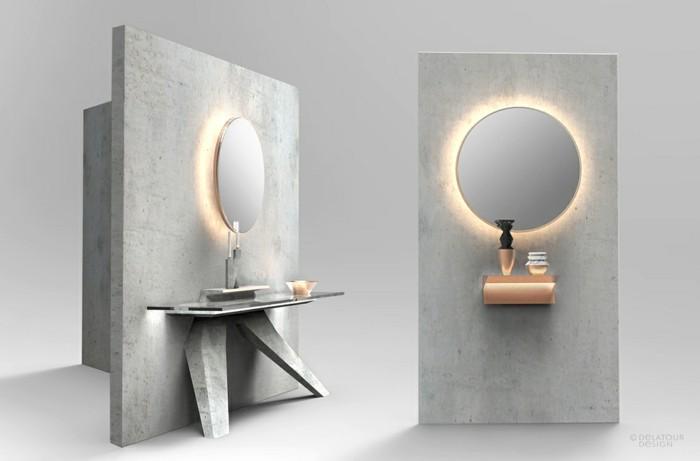 beton design beton möbel selber machen einrichtugnsbeispiele badezimmer ideen