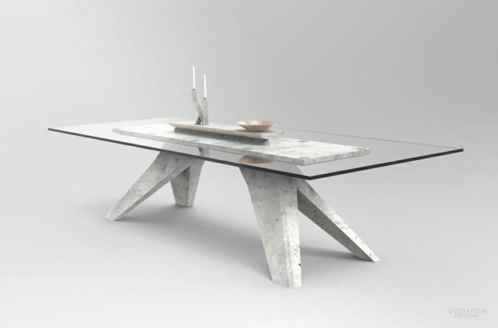 beton design beton möbel selber machen einrichtugnsbeispiele beton tisch