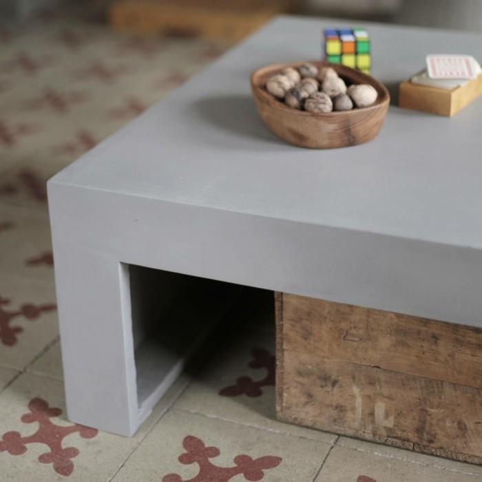 beton design beton möbel selber machen einrichtugnsbeispiele betontisch