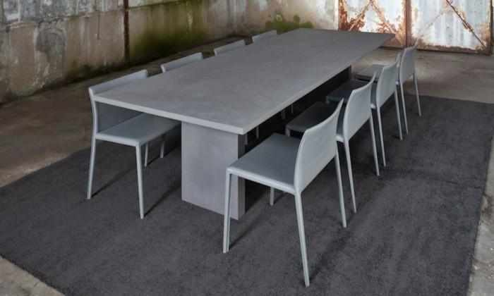 beton design beton möbel selber machen einrichtugnsbeispiele esszimmerstühle