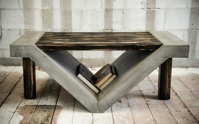 beton design beton möbel selber machen einrichtugnsbeispiele materialmix
