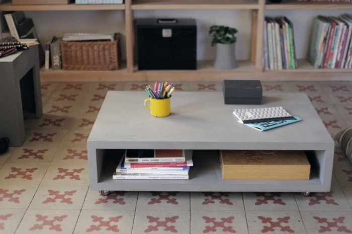 beton design beton möbel selber machen einrichtugnsbeispiele sideboard