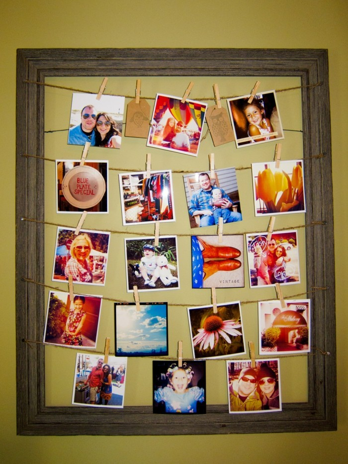 Bilderrahmen selber machen 36 kreative diy ideen f r die for Grabgestecke selber machen fotos
