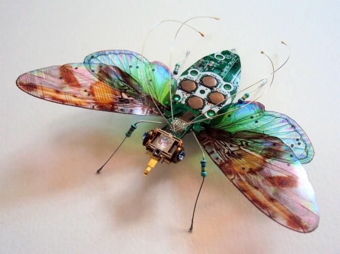 computerteile gebraucht fliege kreative kunst upcycling