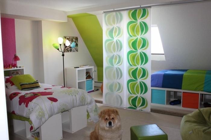 deko ideen kinderzimmer kleines schlafzimmer mädchen jungen kombiniert