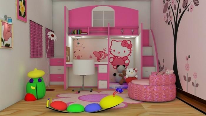 50 deko ideen kinderzimmer reichtum an farben motiven for Kinderzimmer madchen rosa