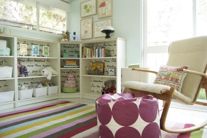 50 deko ideen kinderzimmer reichtum an farben motiven und ideen charakterisiert ein kinderzimmer - Schaukelstuhl kinderzimmer ...