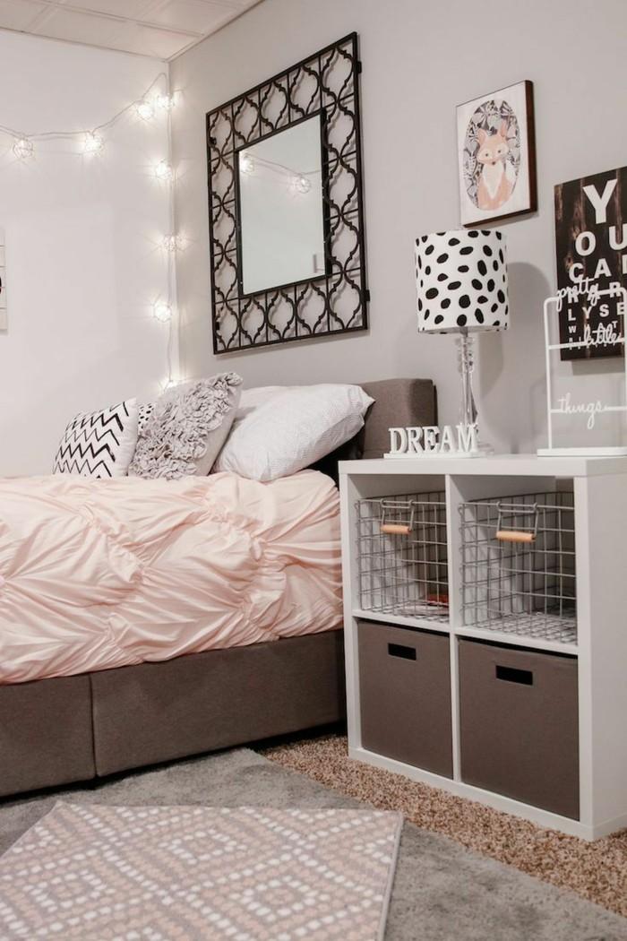 deko ideen schlafzimmer bettwäsche pastellfarben accessoires