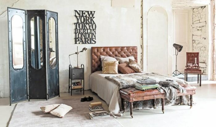 77 deko ideen schlafzimmer f r einen harmonischen und einzigartigen schlafbereich - Industrial style deko ...