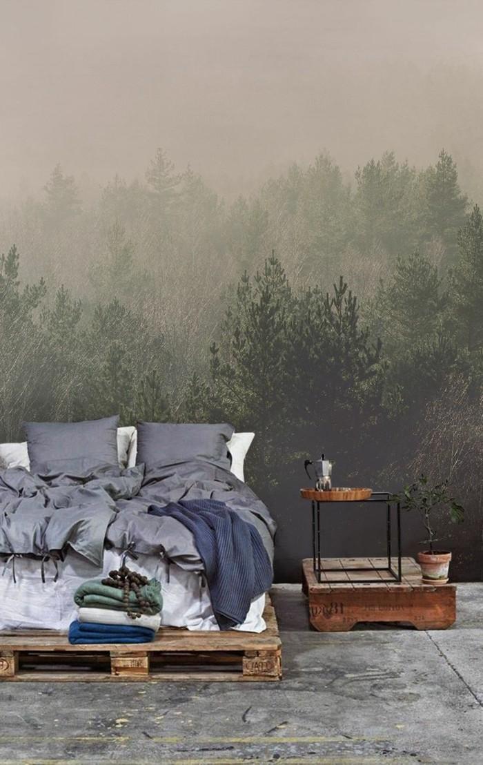 wohnzimmer tapete grun