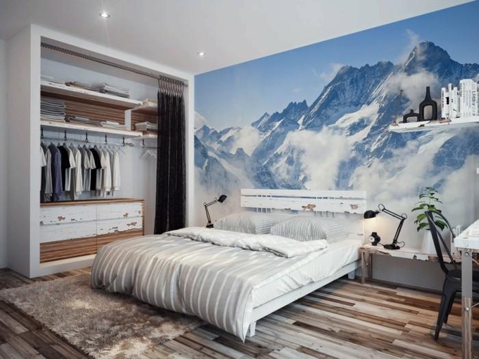dekoideen schlafzimmer wanddeko schöner boden