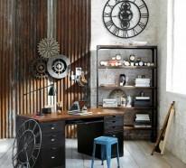 Wanduhr Vintage – 22 praktische und ästhetische Wanddeko Ideen