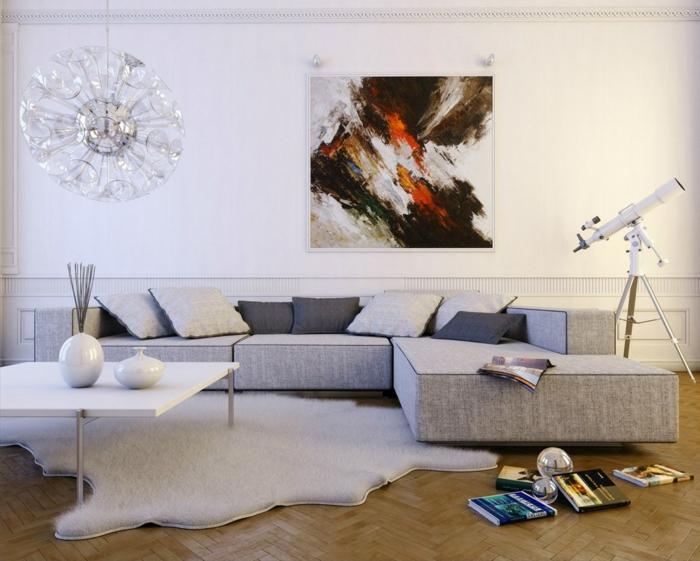 Wandbilder wohnzimmer 33 ideen, wie sie die wohnzimmerwände mit ...
