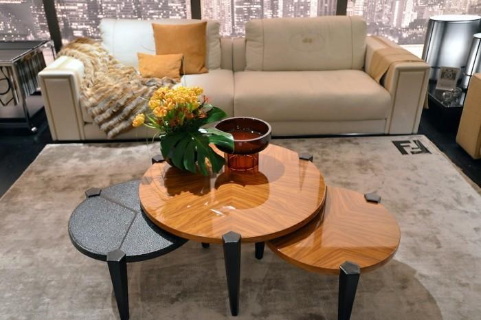 elegante designer couchtische mit retro touch von fendi casa. Black Bedroom Furniture Sets. Home Design Ideas