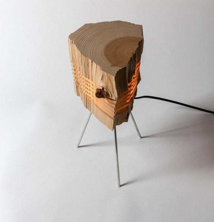 Designer Lampen Brennholz Leuchte Lampion Stehlampe