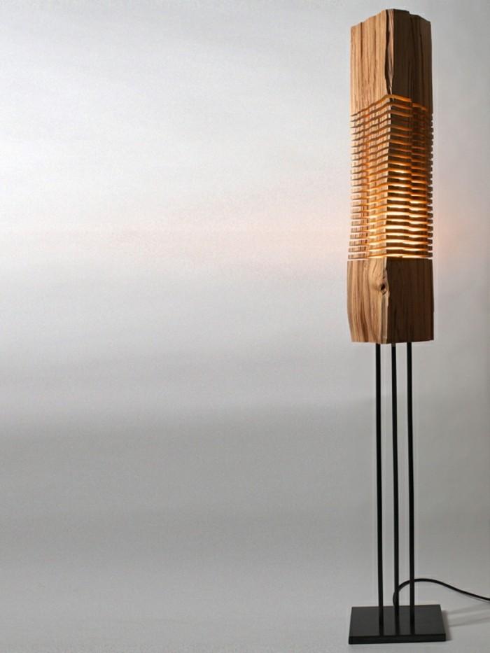 designer lampen brennholz naturholz lampion design