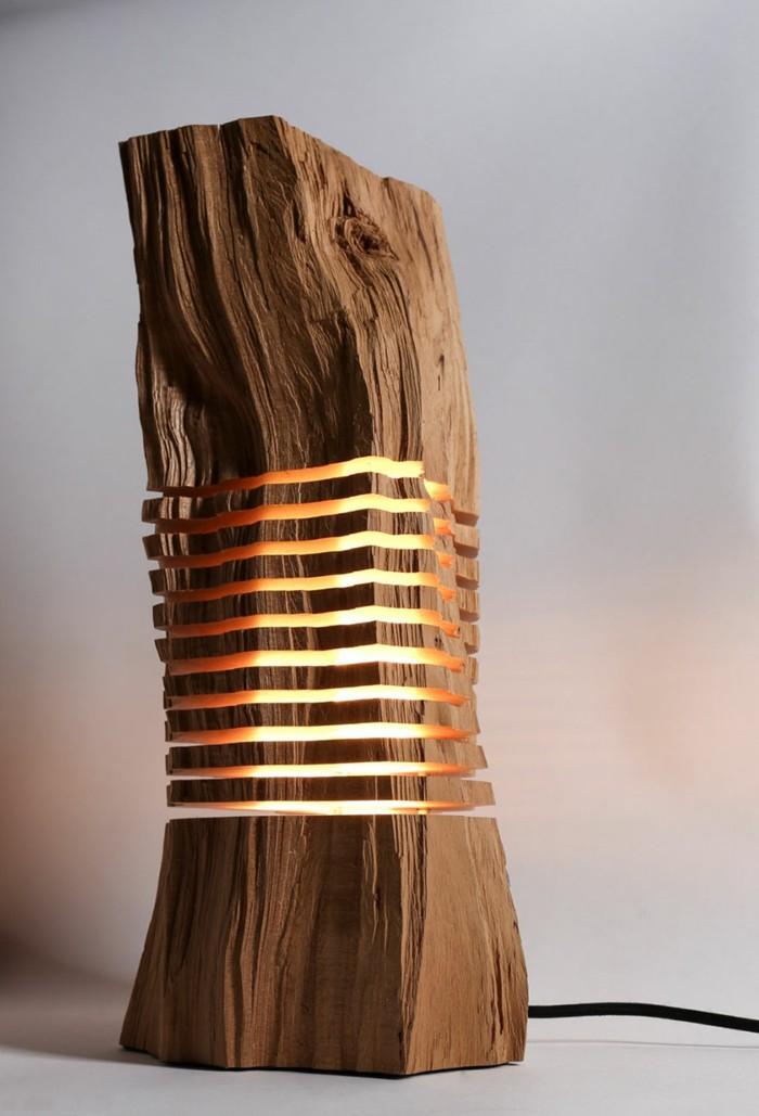 Kreative designer lampen aus naturholz for Design lampen