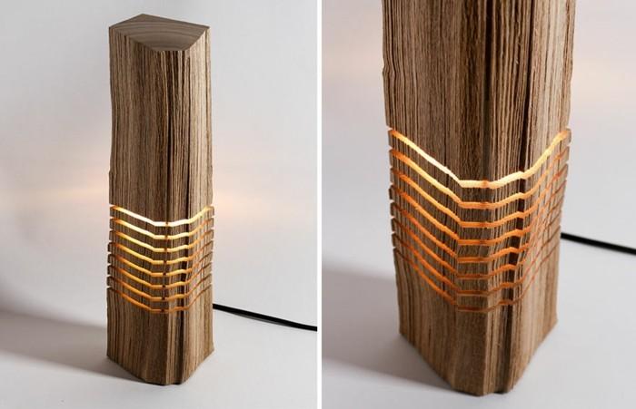 kreative designer lampen aus naturholz. Black Bedroom Furniture Sets. Home Design Ideas