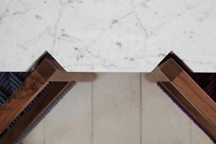 designer möbel holzmöbel esstisch geometrisch ergonomisches design