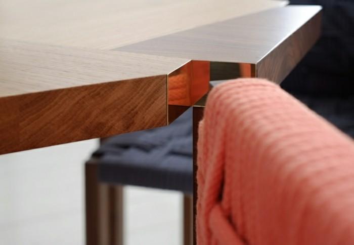 Designer Möbel Holzmöbel Esstisch Hocker Stühle
