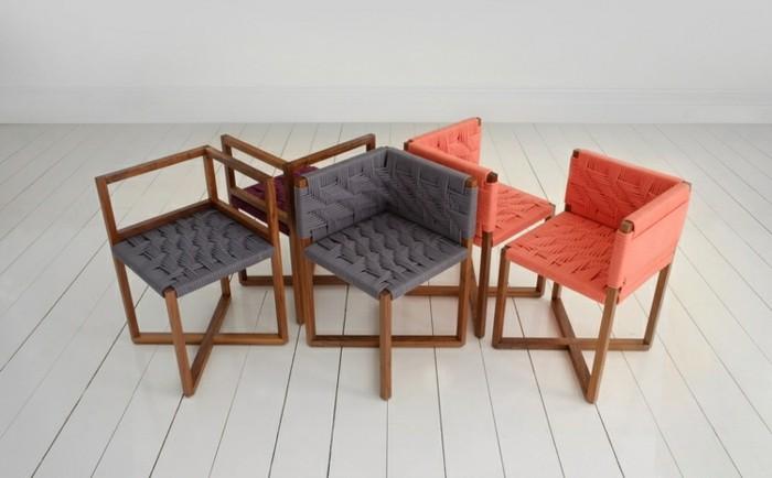 designer möbel holzmöbel geflochtene stühle hocker